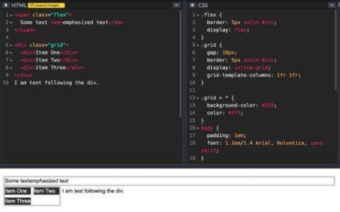 CSS Display属性的双值写法使用帮助_属性教程视频