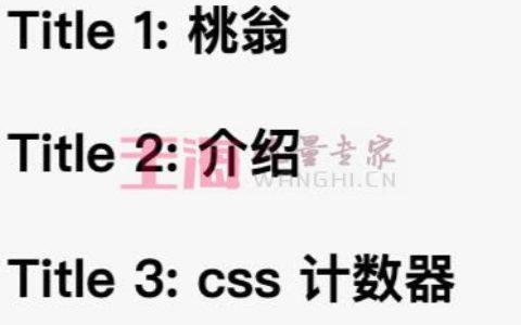 你可能不知道的CSS 计数器基础知识教程_伪元素小白基础